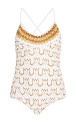 Missoni Mare Metallic Scoop Neck One Piece