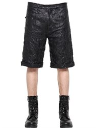 Mcq By Alexander Mcqueen Wrinkled Nappa Leather Shorts