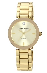 Anne Klein Mirror Bezel Bracelet Watch 32Mm Gold