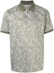 Gieves And Hawkes Patterned Polo Shirt Green