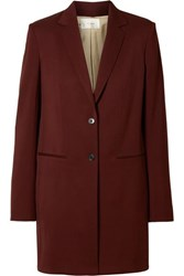 The Row Batilda Wool Jacket Burgundy