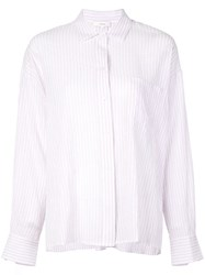 Vince Striped Relaxed Shirt Purple