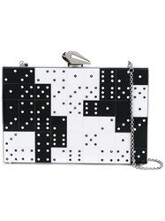Kotur Domino Crystal Clutch Women Plexiglass Metal One Size Black