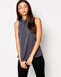 Vero Moda High Neck Sleeveless Top With Embellished Detail Ombreblue