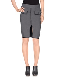 Dekker Knee Length Skirts Grey