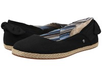 Ugg Perrie Black Canvas Women's Flat Shoes