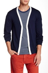 Original Penguin Long Sleeve Cardigan Blue