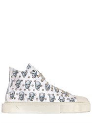 Gienchi Skulls Studded Canvas High Top Sneakers