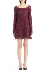 Women's Dolce And Gabbana Scoop Neck Lace Shift Dress