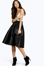 Boohoo Pleated Full Midi Skirt Black