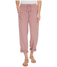 B Collection By Bobeau Magnolia Rolled Tab Pants Lilac Women's Casual Pants Purple