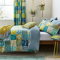 Clarissa Hulse Mini Patchwork Duvet Set Aqua Blue Green