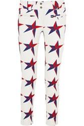 Perfect Moment Aurora Printed Slim Leg Ski Pants White