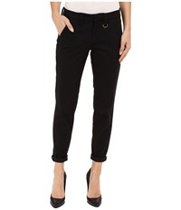 Jag Jeans Dana Tapered Boyfriend Chino Pant In Bay Twill Black Women's Casual Pants