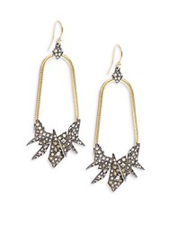 Alexis Bittar Elements Swarovski Crystal And 10K Yellow Gold Earrings