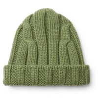 Connolly Ribbed Merino Wool And Cashmere Blend Beanie Green