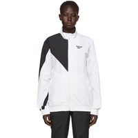 Reebok Classics White And Black Lost And Found Track Jacket