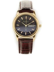 Barbour Gosforth Embossed Leather Strap Watch Burgundy