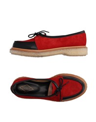 Adieu Lace Up Shoes Red