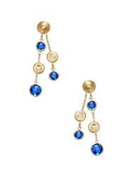 Rivka Friedman Crystal Drop Earrings Gold