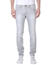 People Denim Denim Trousers Men Grey