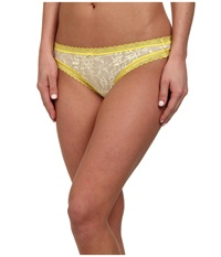 Dkny Intimates Signature Lace Thong 576000 Lemon Tonic Women's Underwear Yellow