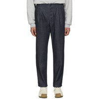 Sunnei Indigo Denim Elastic Trousers