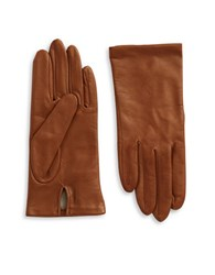 Lord And Taylor Silk Lined Leather Gloves