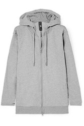 Adidas By Stella Mccartney Essentials French Cotton Blend Terry Hoodie Gray