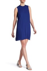 Daniel Rainn Sleeveless Pleated Back Dress Regular And Petite Blue