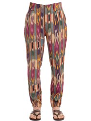 Etro Psychedelic Woven Linen Canvas Pants