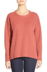 Women's Madewell 'Bryn' Ribbed Pullover Spiced Rose