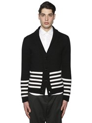 Paul Memoir Striped Wool And Alpaca Cardigan