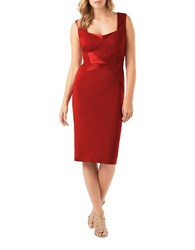 Phase Eight Daniela Satin Mix Dress Scarlet