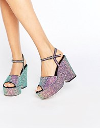Asos Horatio Glitter Wedges Glitter Multi