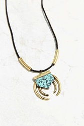 Urban Outfitters Zia Stone Pendant Necklace Black