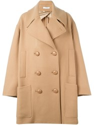 J.W.Anderson Oversized Double Breasted Coat Nude Neutrals