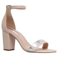 Miss Kg Faye Block Heeled Sandals Nude