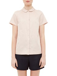 Ted Baker Colour By Numbers Primi Pintuck Detail Shirt Nude
