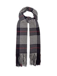 Isabel Marant Checked Cashmere Scarf Navy