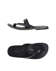 Moma Thong Sandals Black