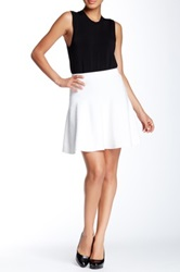 Romeo And Juliet Couture Ponte Skater Skirt White