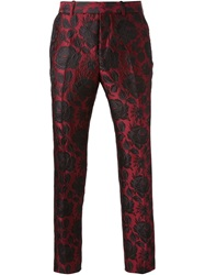 Alexander Mcqueen Floral Jacquard Trousers Black