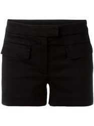 Dondup Flap Pocket Shorts Women Cotton Spandex Elastane 42 Black