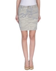 Manila Grace Denim Denim Skirts Beige