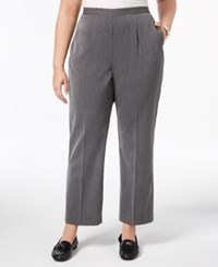 Alfred Dunner Plus Size Pull On Pants Charcoal