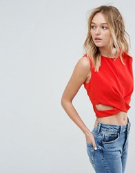 Oeuvre Crop Top Red