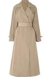 Max Mara Belted Shell Trench Coat Brown