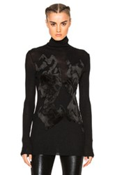 Ann Demeulemeester Embroidered Turtleneck Sweater In Black