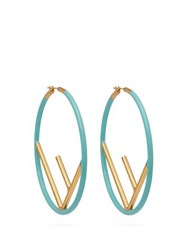 Fendi F Is Hoop Earrings Blue